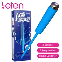 Wholesale 12v male masturbator online - Leten Penis Plugs for Men Vibrator Speed Frequency Urethral Vibrator Sound Catheter Male Masturbator Sex Toys for Man