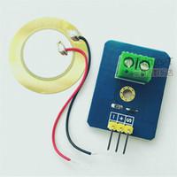 sensores piezoelétricos venda por atacado-Peça piezoeléctrica piezoeléctrica única do módulo do sensor da geração de energia da vibração da potência para o Pi da framboesa