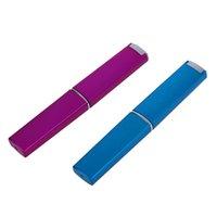 aktenmappe nägel großhandel-2 Farben professionelle Kristallglas Nagelfeile + Hard Case