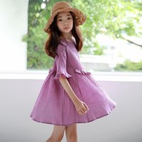Wholesale generations clothing resale online - Girls dress summer new Korean children s clothing in the big boy short sleeved girl loose skirt a generation of hair