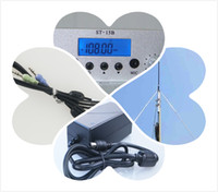 1.5 15W FM broadcast transmitter GP antenna+cable+power supply kit 87--108mhz