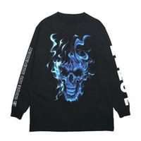 Wholesale women s skull print hoodie online – oversize Heron Preston Mens Hoodies Designer Casual Men Women Skull Head Printing Sweatshirt HP Mens Designer Hip Hop Hoodies