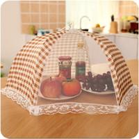ingrosso tavolo ombrello-Coprivaso pieghevole per alimenti Coprivaso per alimenti con zanzariera anti mosca Moschettone per alimenti