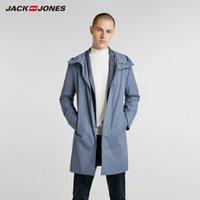 Wholesale men business parka resale online - JackJones Autumn Men s Business Hooded Parka Coat Casual Jacket Long Coat