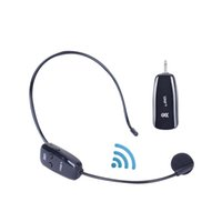 5dfd68276bc Professional Wireless Microphone Bluetooth Convenience Headset MIC Voice  Amplifier FM Transmitter Black