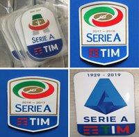 kauçuk yamaları toptan satış-Serie A 2016 2017 2018 2019 2020 futbol çıkartmaları silikon baskı futbol rozetleri kaliteli akın futbol yamalar kauçuk retro rozeti