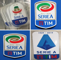 Wholesale silicone rubber print for sale – best Serie A soccer stickers silicone printing football badges good quality flocking soccer patches rubber retro badge