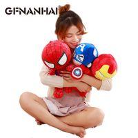 Wholesale spiderman stuff toys resale online - NEW cm Marvel Avengers Captain America Iron Man Spiderman Plush Toy Soft Stuffed Doll birthday Gift for Children Boys