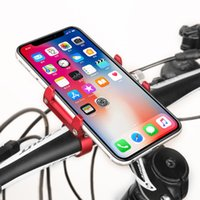 Wholesale sponge phone holder online – Bicycle Phone Navigation Fixed Bracket Handlebar Portable Aluminum Alloy Phone Holder with Sponge Pad Riding Equipment