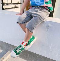 b3e0937c09744 boys summer fashion jeans 2019 - Garçons de mode denim demi-shorts enfants  jeans occasionnels