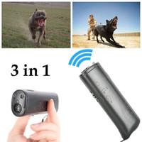 ingrosso dispositivi di allenamento per cani-2019 Nuovo strumento LED Ultrasonic Anti Bark Repeller Addestramento di cani Repellente Ultrasonic Anti Bark Stop Barking Tool