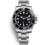 anillo de cerámica de moda al por mayor-Relojes de moda para hombre de lujo 116610LN Anillo de reloj de cerámica de calidad de zafiro 40mm Reloj mecánico automático Reloj impermeable de acero inoxidable