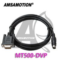 programación usb c al por mayor-Amsamotion Adecuado Veinview MT506M Serie MT510T Panel táctil HMI Conecte Delta DVP Xinje XC Cable de programación de PLC MT500-DVP