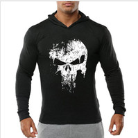 Wholesale shirt muscle xxl resale online - 2019 new fashion Men s fitness hoodies sports muscles body building pullovers watermarking shirts skulls perso gym hoodies Long sleeves