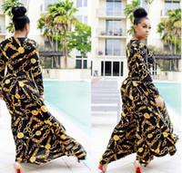 impresiones africanas para la venta al por mayor-Venta caliente Nuevo Diseño de Moda Ropa Africana Tradicional Imprimir Dashiki Niza Cuello vestidos africanos para mujeres # 9014