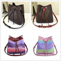 Wholesale black leather drawstring bag for sale - Group buy 2020 high end designer brand women s small shoulder bag color wide shoulder bags MINI SQUARE bag portable women s messenger bag Bucket Bags