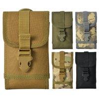 pequeñas bolsas de múltiples bolsillos al por mayor-5styles Outdoor Tactics Hanging Bag Bolsas de camuflaje para teléfonos móviles Bolsillo de cintura pequeña Bolsa para hombres bolsos de cinturón FFA2906