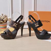 avrupa yeni kadınlar topuk toptan satış-Kadın yüksek topuklu ayakkabılar Avrupa istasyonu yeni yüksek kaliteli deri ayakkabı 35-40 rahat ayakkabılar fabrika doğrudan ...