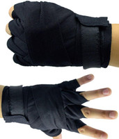Wholesale hand cotton gloves resale online - 2 m Elastic Cotton Boxing Hand wrap box hands Protective Gear Boxing Gloves Bandage magic stickers Bandages