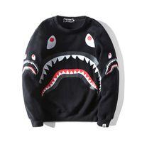 bape hoodie großhandel-BAPE Herren Hoodies Fashion Herren Designer Cartoon Shark Printing Hoodies Jacke Männer Frauen Hochwertige Beiläufige Sweatshirts Schwarz