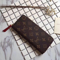 Wholesale novelty wallets coin purses for sale - Group buy with box top quality luxury wallet coin purse mens designer long wallets wallet louis vuitton women leather zippy wallet