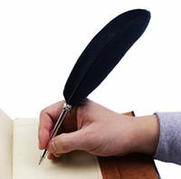 stylos de plumes de mariage achat en gros de-Stylo à bille en plume de mode pour mariage cadeau enfant école de bureau fournitures Kawaii