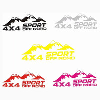 Wholesale auto body graphic stickers resale online - Off road SUV Car Mountain Graphic Sticker x4 Autos Body Side Door Cartoon Decal