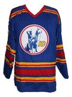 ingrosso hockey blu-Maglia Hockey retrò CHEAP Kansas City New Blue Charron Punto personalizzato qualsiasi numero qualsiasi nome Maglia uomo Hockey XS-5XL