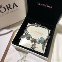 Wholesale rhodium bracelets for sale - Group buy Pandora luxury designer jewelry women bracelets charm bracelet alloy screw cuff bracciali ladies gift Bracciale donna original box