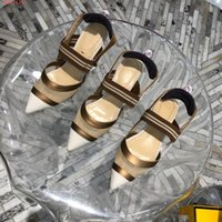 Wholesale range shoes for sale - Group buy The latest women Splicing shoes Splicing mesh breathable sandals Chic metallic heels With a full range of packaging