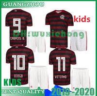 menino diego venda por atacado-Kits para crianças 19 20 Flamengo camisa de futebol Flamenco DIEGO GUERRERO E .Ribeiro MANCUELLO H.DOURADO VINICIUS JR Brasil Crianças 2019 2020 Meninos