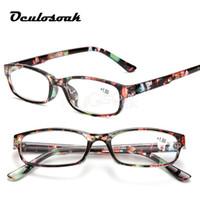 lentes de dioptria venda por atacado-Óculos de leitura Homens Moda Limpar Lente De Plástico Eyewears Luz Mulheres Cor Óculos Presbiopia Óculos Dioptria Lupa