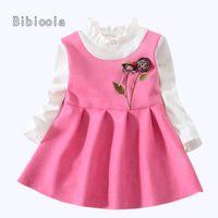 5895a0cefd3b good quality infant baby girls dresses newborn girls fashion flowers  princess party dress Children girls spring autumn casual dress