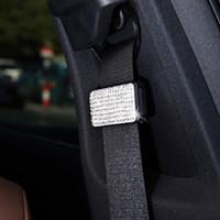 ingrosso cintura elastica del strass-2019 Nuovo 3 Pezzi Cintura di sicurezza per auto Cintura di ancoraggio Car Styling con strass Diamond Cintura di sicurezza Elastico regolabile Multi colore