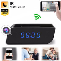 Wholesale ip camera dvr security wifi resale online - WiFi Clock IP Cameras HD P Wireless Wi Fi Digital Clock Camera Mini DV Alarm Desk DVR Security Nanny CCTV IP Cameras Cam for Home Office