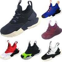 Wholesale mix kids shoes for sale - Huaraches Run Ultra Mesh Breathable Kids Running Sneakers Originals Wallace Mix Eva Cushioning Athletic Shoes