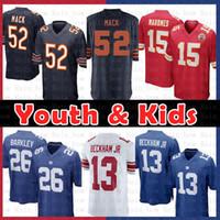 Wholesale barkley jersey online - Youth Kids Chicago Bears Khalil Mack Kansas City Jersey Chiefs Patrick Mahomes New York Gaints Saquon Barkley Odell Beckham Jr