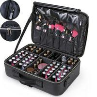 casos de vaidade de beleza venda por atacado-NOVA Caixa de Beleza Profissional Maquiagem Rose Vanity Case Cosmetic Nail Jewelry Case Bag Grande Capacidade Multi-storage Vanity