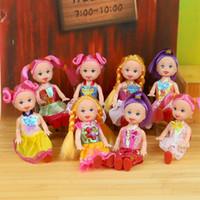 küçük kız oyuncakları toptan satış-Toptan-Küçük Kelly Bark Prenses Kelly Kelly Bebek Kız Oyuncak Hediyeler 4 Inch Barbie Oyuncak Seti Doll4