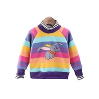 Wholesale rainbow baby boys clothing for sale - Group buy Baby Girls Warm Hoodies Clothes Boys Winter rainbow Sweatershirt Kids Thick cartoon Sweaters Children Casual Top Years