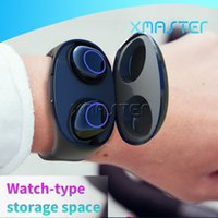 Wholesale wrist bluetooth headset online – Wrist Type Wireless TWS Earbuds Bluetooth Wtaerproof Mini Earphones for iPhone Pro XS MAX XR Headset with Retail Packaging xmaster