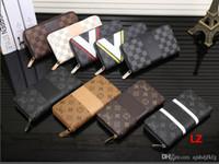 Wholesale long male wallets for sale - Group buy hot Fashion Men Wallets Small Wallet Men Money Purse Coin Bag Zipper LONG Male Wallet Card Holder Slim Purse Money Wallet