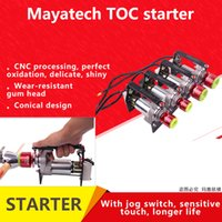 moteurs électriques rc achat en gros de-mayatech TOC démarreur de moteur électrique rc pour hélicoptère d'avion RC modèle de moteur à essence modèle RC de modèle 15cc - 80cc
