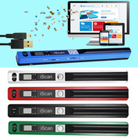 documento usb venda por atacado-USB 2.0 de alta velocidade 900dpi Pen Tipo Mini Display LCD JPEG / PDF Format portátil de Compact Document Scanner