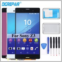 Wholesale touch sony z3 resale online - For Sony Xperia Z3 LCD Display touch screen digitizer Assembly Screen L55t D6603 D6643 D6653 Screen For Sony Xperia z3