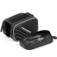 tubo negro movil al por mayor-PROMENDA la bolsa de bicicleta tubo de bicicleta de montaña bolsa de sillín impermeable con pantalla táctil equipo para montar el teléfono móvil (negro)