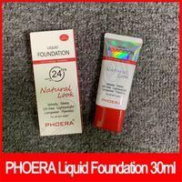matte livre de óleo venda por atacado-Phoera Face Makeup Base Líquida 30ml Look natural Cobertura Total Base Fina Suave Longa Desgaste Corretivo Creme Base Oil-free