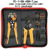 Wholesale wire stripper crimping for sale - Group buy Crimping pliers set SN B jaw Multifunctional wire stripper cutting pliers kit bag electric clamp brand tools
