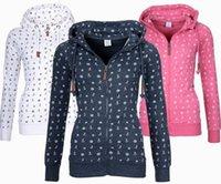 lose großes sweatshirt großhandel-Neue Mode Lose Print Cord Frühling Herbst Frauen Hoodies Casual Langarm Plus Größe Sweatshirt Femmes Mantel Große Größe