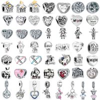 Wholesale pandora charms mom resale online - each for one mother s day gift family mom mixed charm bead fit pandora charms bracelet for women diy jewelry M006
